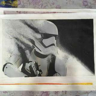 Oil Painting - Ready to Star War