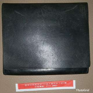 genuine made in Spain Ann Demeulemeester leather folding wallet