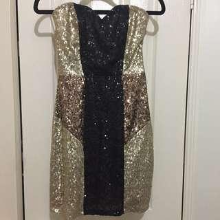 Strapless Sequin bodycon dress