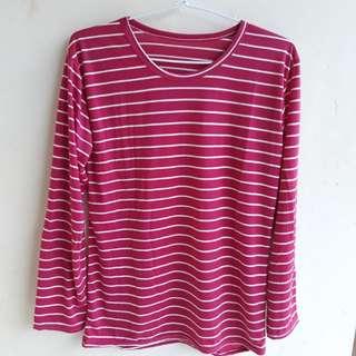 Kaos stripe pink