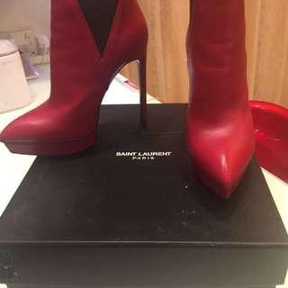 型格 YSL 短boots