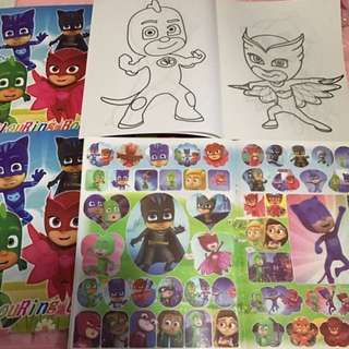 Instock Pj mask A4 Coloring And Stickers book brand new