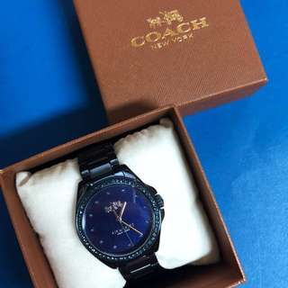 Coach Tristen Navy Blue Watch