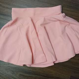 Milky Pink A line Skirt
