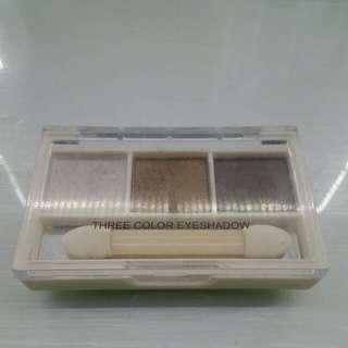 MINISO Three Color Eyeshadow (Brown)