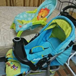 Bouncer & stroller for sales