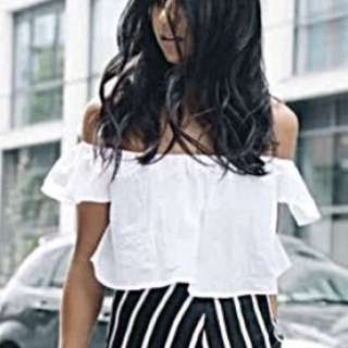 Off Shoulder White Top - Brand New Small