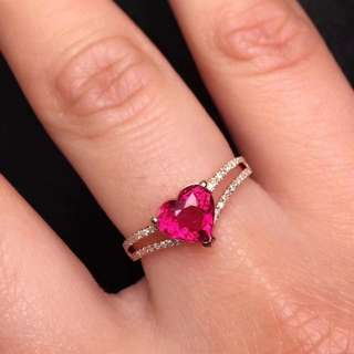 滿火彩盧比萊碧璽戒指 ring