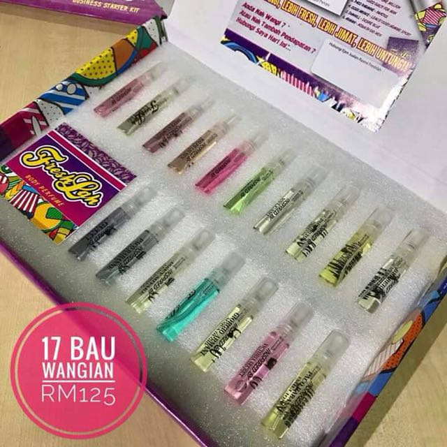 1 set 5ml (17unit) Freshlah Body Perfume