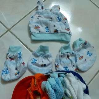 Baby Stuff Mittens Gloves, Crochet Hat, Bibs
