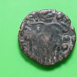 Raja Raja CHOLA  - OCTOPUS MAN - (985-1014 AD) - Beautiful vintage Copper Coin Medieval ( 1000 Years  old ) - ch05