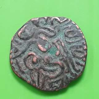 Raja Raja CHOLA  - OCTOPUS MAN - (985-1014 AD) - Beautiful vintage Copper Coin Medieval ( 1000 Years  old ) - ch06