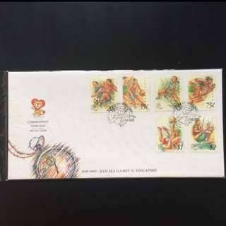 FDC First Day Cover - Singapore 1993 - Sport Series - XVII Sea Games 93 Singapore Stamp