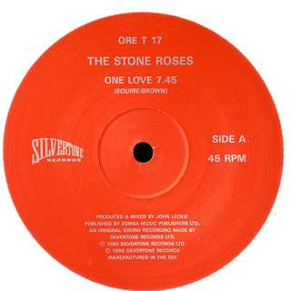 "Vg the stone roses one love single 12"" record ltd vinyl indie uk"