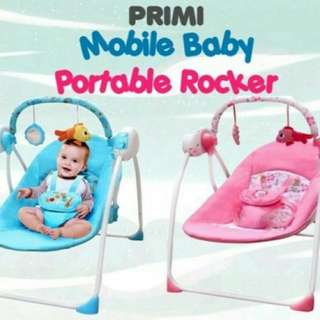 [READYSTOCK!!]MOBILE BABY PORTABLE ROCKER (TIMER & MUSIC)