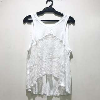 White Coverup Blouse