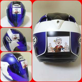 3001*** ARC AR1 TIARA Matt Blue Helmet For Sale 😁😁Thanks To All My Buyer Support 🐇🐇 Yamaha, Honda, Suzuki