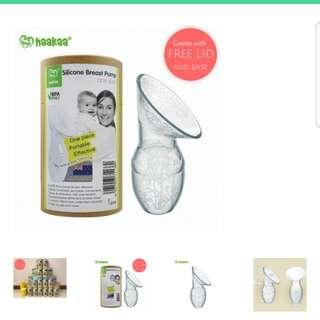 Haakaa Silicone Breast Pump - brand new in box & unused