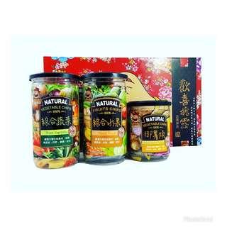 🚚 綜合蔬菜水果脆片禮盒(三入禮盒組)