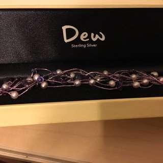 Dew Sterling Silver beaded bracelet