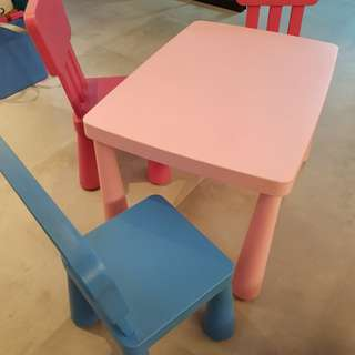 Ikea kids table & chairs (3 nos.)