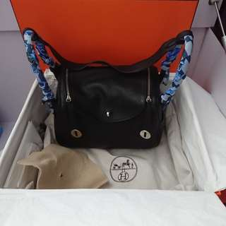 Hermes lindy 26 noir Clemence leather bag full set 不連twilly not chanel