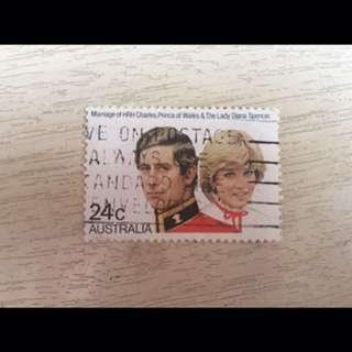 Stamp - Princess Diana & Prince Charles