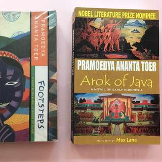 2 books - Footsteps and Arak of Java