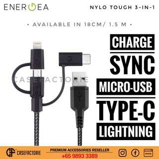 Energea Nylotough 3 in 1 Fast Charge Cable