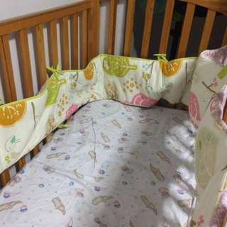 Large Baby cot (bumper + new mattress total $80)