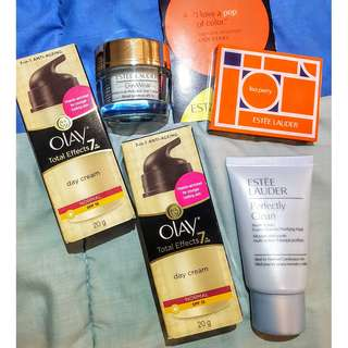 Estee Lauder DayWear and Cleanser/Purifying Mask & OLAY Day Cream NEGOTIABLE