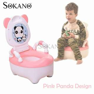 SOKANO Panda Design Kids Toilet Training Potty and Seats for Girls and Boys