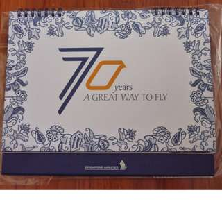 Singapore Airlines 70 years A Great way to Fly Calendar 2016 Brand New Mint OFFER