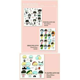 [SHARE] BTS Fanart Stickers by @mushroom_06_13
