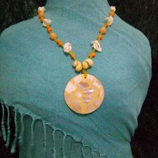 Artisan fashion jewelry necklace made from indigenous unique materials