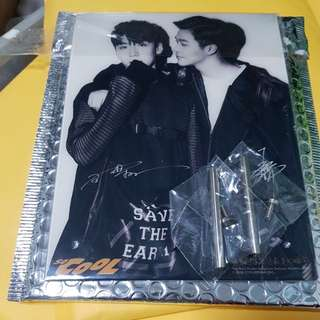 SO COOL Magazine Limited Acrylic stand with poster Meng Rui Bowen 孟瑞王博文 不可抗力