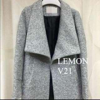 二手韓國製淺灰色厚褸  Coat / jacket