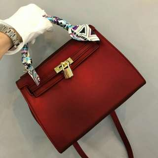 Inspired Designer Jelly Bag Red