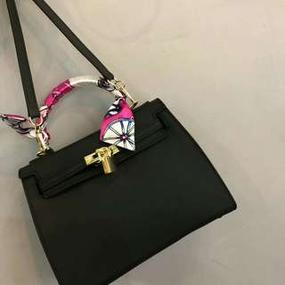 Inspired Designer Jelly Bag Black