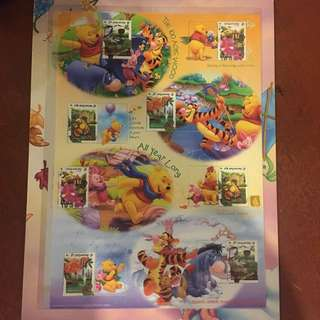 Winnie the Pooh & friends stamp collection