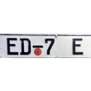 Looking For Vintage Car Plate Number