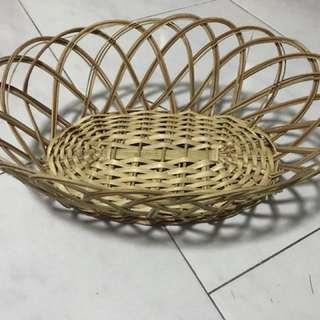 Wedding rattan basket