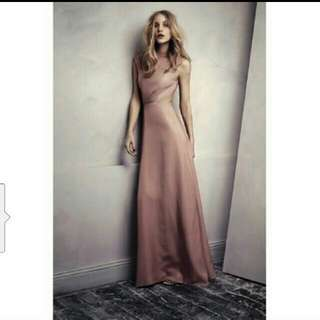 H&M couture evening bareback dress gown