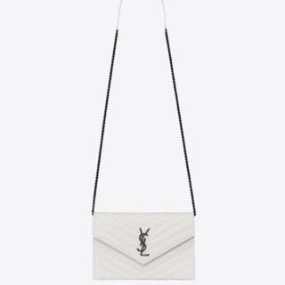 99% new YSL wallet on chain (white)