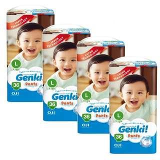 4 x Genki! Pants Jumbo L36