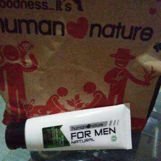 Less 10% Human Nature Shaving Cream With Peppermint