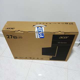 "27 "" LED  monitor empty box"