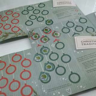 STARBUCKS Christmas Traditions Promo Card STICKERS