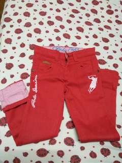 Red Polo jeans