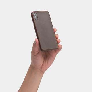 [IN-STOCK] totallee thin leather iPhone X case - Mocha Brown